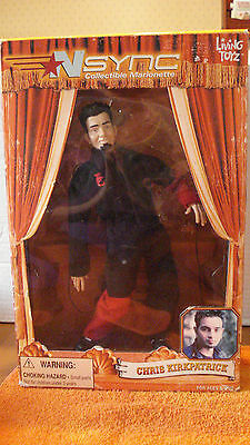 """NSYNC, Chris Kirkpatrick Collectible Marionette, NEW, 9 1/2"""" Tall, Living Toy"""