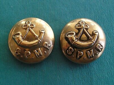 Southern Provinces Mounted Rifles, 2 Cap Size White Metal Indian Army Buttons