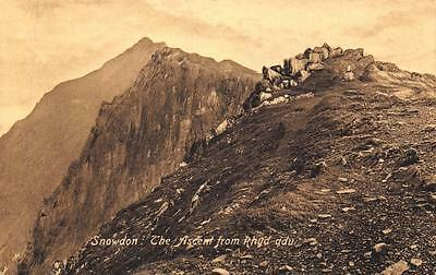 Postcard Snowdon the ascent from Rhyd-ddu WALES by Valentines
