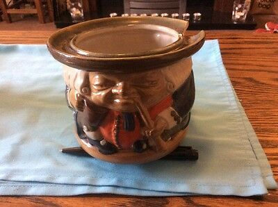 rare doulton harry simeon tobacco jar. best is not too good.a/f