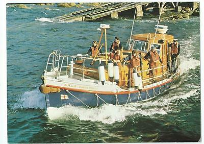 CORNWALL, SENNEN COVE LIFEBOAT,DIANA WHITE, VINTAGE POSTCARD, c1980