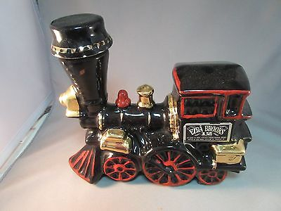 VINTAGE EZRA BROOKS TRAIN ENGINE WHISKEY DECANTER!  Bright & Shiny Paint EMPTY