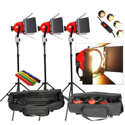 RHKITPB 3 SETS Video Studio Red Head Light 800w Video Lighting with DIMMER