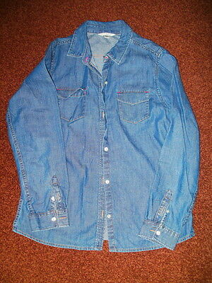 Girls Denim Shirt From Lands End Age 12-13 Years