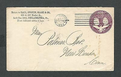 mjstampshobby 1893 US Cover VF Cond Vintage RARE (Lot1449)