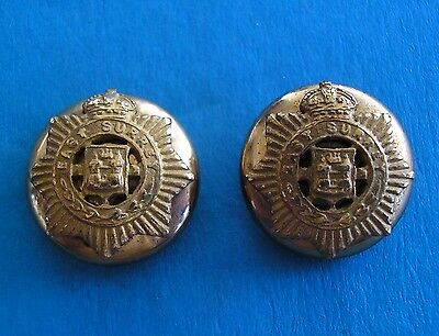 East Surrey Regiment, Pair Of Officer's Small, Gilt Mess Dress Military Buttons