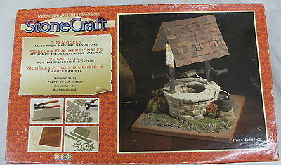 Stonecraft Natural Stone and Wood 3d Model Wishing Well