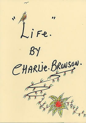 Charles Bronson SIGNED AUTOGRAPH Life and Poetry AFTAL