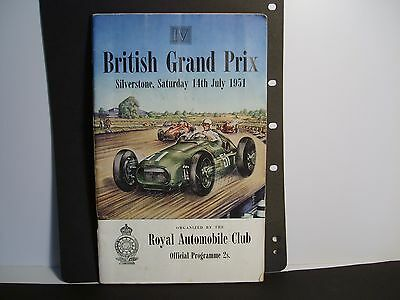 RAC. British grand prix silverstone 14th July 1951 official programme good cond.