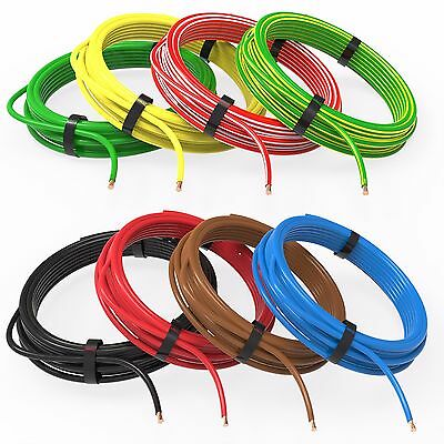AUPROTEC 1m-20m automotive 6.0 mm² electrical auto cable battery wire 8 colours