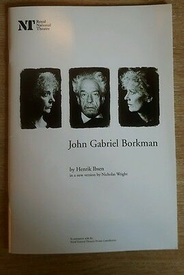 John Gabriel Borkman By Henrik Ibsen - Royal National Theatre Programme