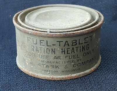 Vintage US Army Fuel Tablet Ration Heating Can