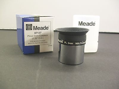 "Meade 1.25"" 5mm Plossl Multicoated Telescope Eyepiece -- see Moon, Planets NEW!"