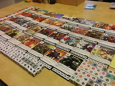 Dice Masters: bulk lot Basic Action cards, dice and sidekick dice. marvel DC D&D