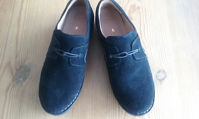 Clarks Unstructured Artisan Ladies Shoes size 6 Black Suede