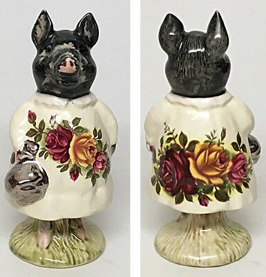 "Country Bouquet Dress-Beswick Beatrix Potter Figurine ""Pig-Wig"""