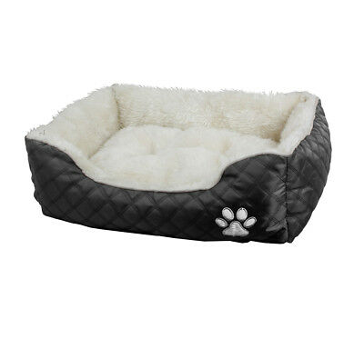 Dog Pet bed with soft fur Richmond Size Available Small Medium and Large Black