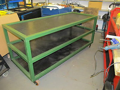 Strong Steel Mobile Workbench / Packing / Assembly / Welding Bench