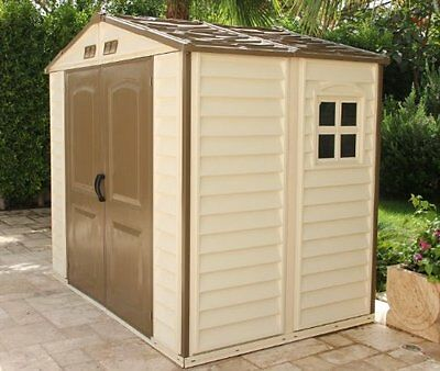 StoreAll 8 x 6 Vinyl Storage shed with Foundation