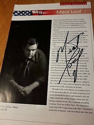 Meatloaf original autograph from 2005