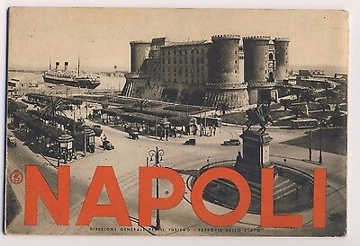 NAPOLI Italy Vintage Travel Guide Book 1935
