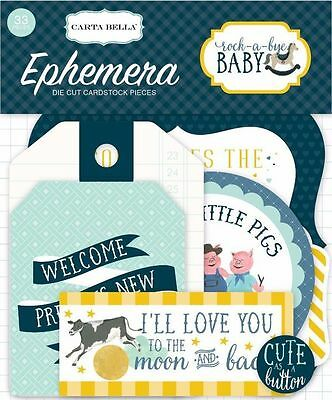 "Carta Bella ""rock-A-Bye Baby"" Boy Ephemera Die Cuts  Infant  Scrapjack's Place"