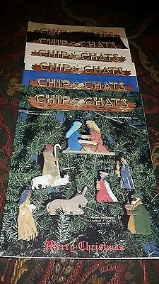 Chip Chats 1989 Complete Year (6 Issues) Wood Carving Magazines