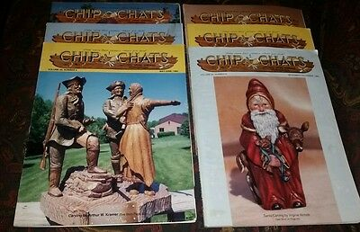 Vintage Chip Chats 1993 Complete Year (6 Issues) Wood Carving Magazines