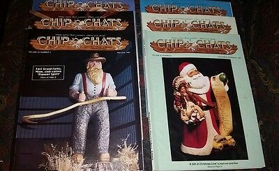 Chip Chats 1995 Complete Year (6 Issues) Wood Carving Magazines Santa Claus List