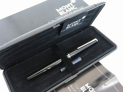 Beautiful MONTBLANC 320 Black & 14K/ct Gold 585 Fountain Pen with Box [345]