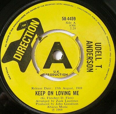 Udell T. Anderson - Keep On Loving Me / Rainmaker - Direction 58-4459   Ex
