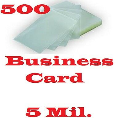 500 Pack 5 Mil Business Card Laminating Pouches Sheets  2-1/4 x 3-3/4