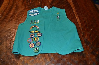Girl Scouts ~ Girl Youth Medium Vest ~ Daisy? ~ W/ Pins And Patches