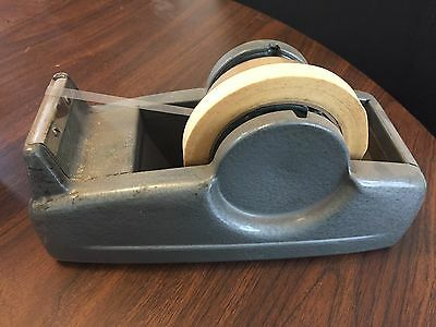 scotch tape dispenser c-22 dual roll double spool vintage office supply tool