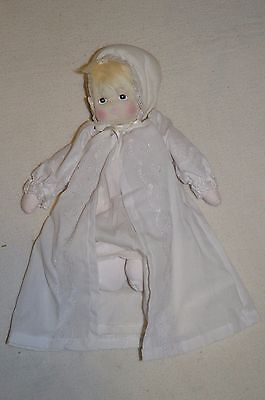 """Vintage 10"""" #57 Soft Doll White Christening Gown"""