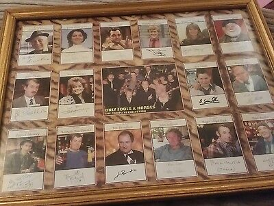 framed only fools and horses signed characters