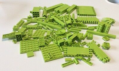 Lego Collection Of Various Bricks And Pieces - Light Green