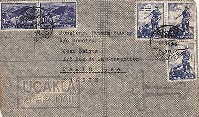 Lettre Turquie Galata To France Cover Turkey