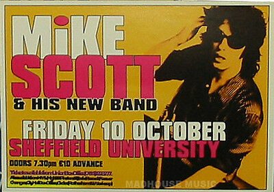 WATERBOYS  Mike Scott Gig FLYER SHEFFIELD Mint RARE * Post Free w/ Anything else