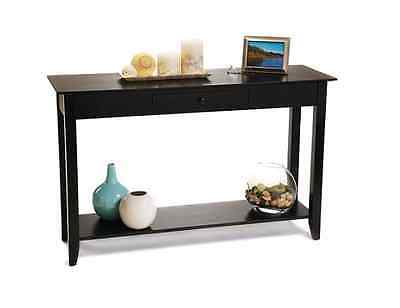 Console Tables For Entryway With Storage Espresso Finish Living Room Book Stand