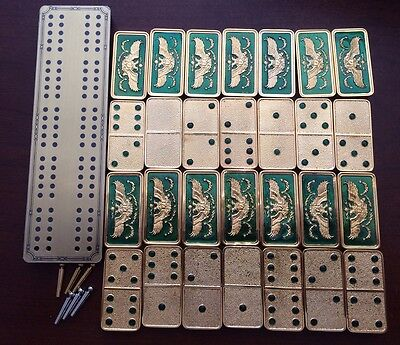 FRANKLIN MINT HOUSE OF FABERGE IMPERIAL DOMINOES Set IN 22K GOLD
