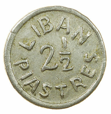 Lebanon, 2-1/2 Piastres, Middle East, Wwii, Nd 1941