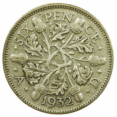 Great Britain, George V Sixpence, Silver, 1932