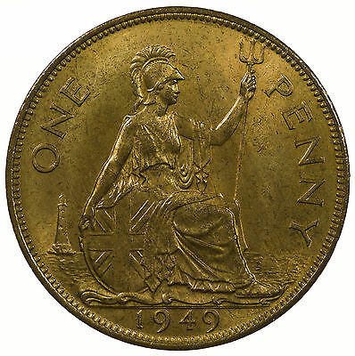 Great Britain, George Vi Penny, High Grade With Lustre, 1949