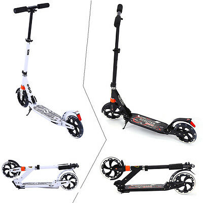Outdoor Travel Sport Adult Scooter Urban Town Rider Folding Cool Black White UK