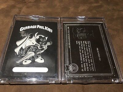 1985 Topps Garbage Pail Kids OS 1 Nasty Nick Front And Back Negatives 1a