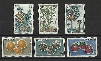 Cambodia - Cambodian Fruits sets (1st & 2nd Issue) - LMM - 1962