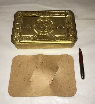 WW1 1914 Princess Mary Tin With Pencil Holder & COMPLETE Pencil