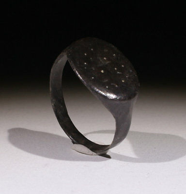 Lovely Ancient Roman Bronze Ring With Cross - Circa 2Nd Ad  - No Reserve!!