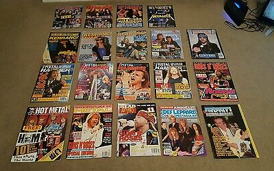 19 rock metal magazine's 90's80's rare joblot bundle Kerrang hit parader + more